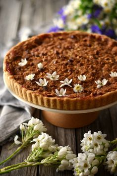 Plum Pie With Hazelnut Crumb