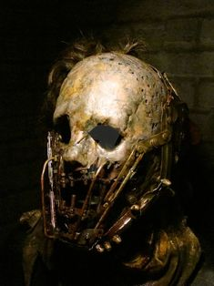 Custom Leatherface Mask 1 by purplenothing on DeviantArt Creepy Masks, Creepy Art, Arte Horror, Horror Art, Monsters Rpg, Gruseliger Clown, Scarecrow Mask, Masque Halloween, Dark Creatures