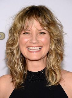 Jennifer Nettles medium length curly hair with bangs
