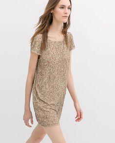 ZARA - 本週新品 - 裝飾箔片刺繡連衣裙 2290