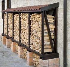 You want to build a outdoor firewood rack? Here is a some firewood storage and creative firewood rack ideas for outdoors. Outdoor Firewood Rack, Firewood Shed, Firewood Storage, Into The Woods, Backyard Patio, Backyard Landscaping, Backyard Plants, Pool Plants, House Plants