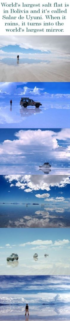 One of the places where I really would LOVE to visit in the world, the Uyuni@Largest Mirror ever