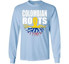 Teecastle Colombian Roots Colombia Flag Gift Pride T-Shirt