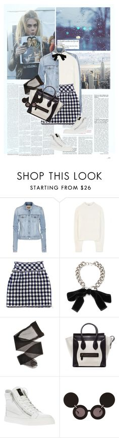 """""""fℯℯℓ. 807"""" by the-running-verb ❤ liked on Polyvore featuring Damsel in a Dress, Paige Denim, Acne Studios, Chanel, Alexander McQueen, Giuseppe Zanotti and Jeremy Scott"""
