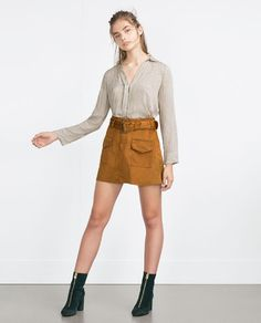 ZARA - WOMAN - MINI SKIRT WITH BELT $40