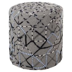 Cotton pouf with oversized stitching.   Product: PoufConstruction Material…