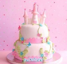 Pin castle birthday cake