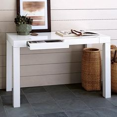 white parsons desk - Google Search