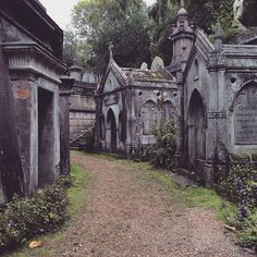 all-things-b-e-a-u-t-i-f-u-l: Highgate Cemetery, London (by HorrorCandyBox) Highgate Cemetery London, Old Cemeteries, Graveyards, Cemetery Art, Catacombs, Dark Places, After Life, American Horror Story, Places Around The World