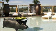The stylish Altitude Pool - SLS Hotel at Beverly Hills #svnlife #california