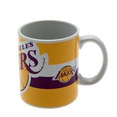 LOS ANGELES LAKERS Official NBA Ceramic Mug BC Yellow White Logo Coffee Cup. Los Angeles Lakers Mug.