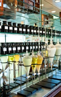 Naturopathica's East Hampton Aromatherapy Bar - would definitely have something like this