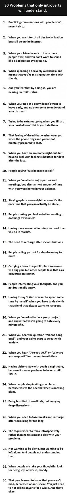 Problems only introverts will understand