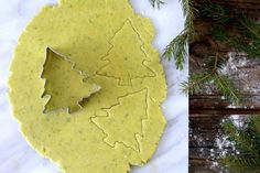 Cooking with spruce is magical. These spruce tree shortbread cookies will make you feel so Christmassy! More at PBS Food. Danish Cookies, Spruce Tips, Cookie Glaze, Kitchen Vignettes, Pbs Food, Tree Identification, Tree Cookies, Shortbread Cookies, Salted Butter