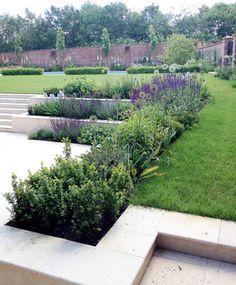 Large Country Estate modern-garden