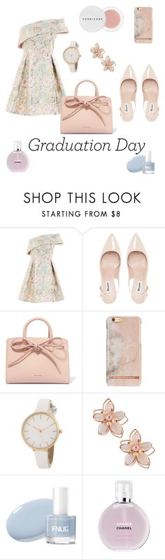 """Graduation day"" by linalevan ❤ liked on Polyvore featuring Topshop, Dune, Mansur Gavriel, NAKAMOL, Chanel and Herbivore"