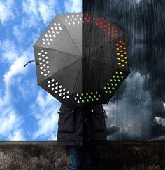 Mira cómo cambia el el color de las gotas cuando llueve! Magia!