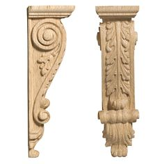 Richelieu Natural Cherry High x Wide x Deep Acanthus Corbel Cornice Design, Dremel Wood Carving, Door Gate Design, Wood Carving Designs, Gothic House, Ceiling Medallions, Wall Lantern, Acanthus, Furniture Styles