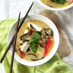 Thai Red Curry with Tofu and Eggplant | Connoisseurus Veg