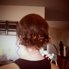 Loose braided updo. Perfect for a bridesmaid!