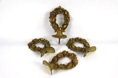 Antique French Solid Bronze Rose Garland, Furniture Ornament, Fronton, Decorative Rose Garland, Ormolu, Garniture, Salvage Hardware