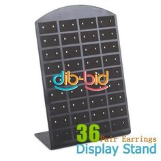Vogue 36 Pair Girl Woman Earrings Jewelry Organizer Display Stand Holder Tool AU $1.54