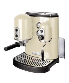 Wake up to fresh homemade coffee every morning with #KitchenAid's cream Artisan Espresso Maker