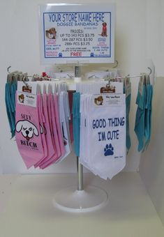 Dog bandana display idea