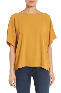 Bobeau Elbow Sleeve Top