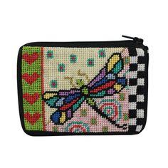SZ191 Dragonfly Coin Purse Stitch & Zip Kit