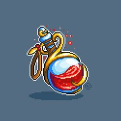 Updating an old potion asset I made when I first started to pixel Arte 8 Bits, Funny Cross Stitch Patterns, 8bit Art, Pixel Art Games, Art Challenge, Game Design, Game Art, Retro, Art Reference