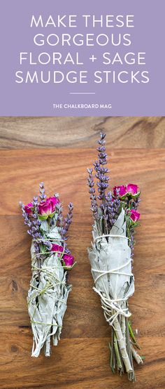 Make a Smudge Stick with Sage, Lavender and Rose Infuse some floral goodness into your home this summer with these gorgeous smudge sticks!Infuse some floral goodness into your home this summer with these gorgeous smudge sticks! Ideias Diy, Deco Floral, Smudge Sticks, Beltane, Book Of Shadows, Plant Hanger, Herbalism, Diy And Crafts, Flower Power