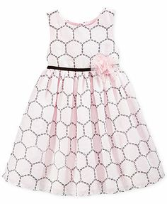 Marmellata Little Girls' Circle-Print Dress