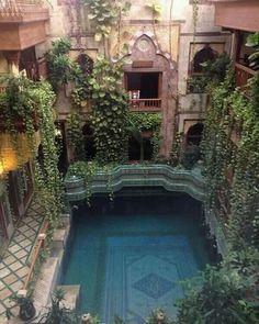Pool in Sami Angawi house in Jeddah Saudi Arabia.