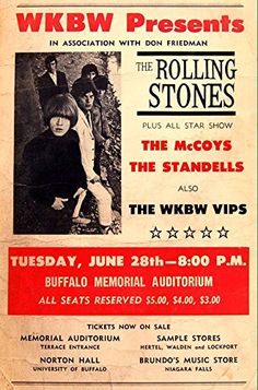 """""""The Rolling Stones - Buffalo Memorial Auditorium."""" Fantastic A4 Glossy Art Print Taken from A Vintage Concert Poster by Design Artist http://www.amazon.co.uk/dp/B01565O3BU/ref=cm_sw_r_pi_dp_fUt8vb1AQ3PK9"""