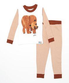 Look at this Brown Eric Carle Brown Bear Pajama Set - Infant Toddler