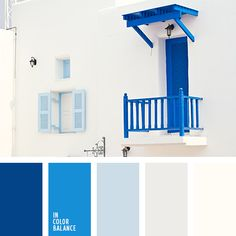 Palette bright blue, color of colo House Color Schemes, Bedroom Color Schemes, Colour Schemes, House Colors, Best Bedroom Colors, Blue Bedroom, Greek Decor, Greek Blue, Casas The Sims 4