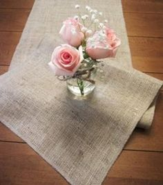 Hessian (burlap) table runners