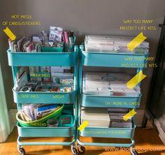 Vinyl Craft Storage Organizations