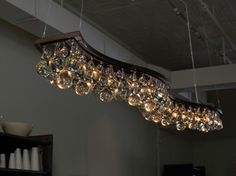 dining room lighting option  Double Wave 200cm Chandelier - contemporary - chandeliers - OCHRE