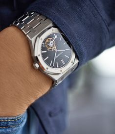 It's been 45 years since the creation of the original Audemars Piguet Royal Oak and this now classic piece, is more popu Dream Watches, Sport Watches, Luxury Watches, Watches For Men, Audemars Piguet Price, Audemars Piguet Royal Oak, Patek Philippe, Vintage Watches, Omega Watch