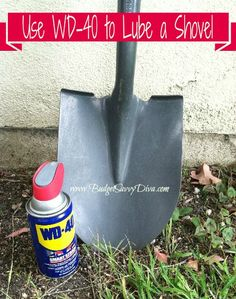 Great Gardening Tip: Use WD-40 To Lube Your Shovel