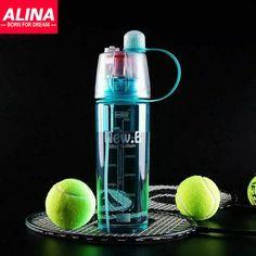 100% аутентичные лакированной двойного назначения спортивные бутылки распыление воды бисфенол а BPA   бесплатная пластиковые стаканчики летом необходимо присосками бутылка для воды купить на AliExpress