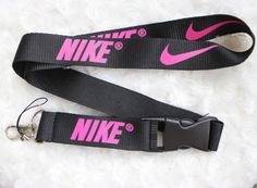 Nike Lanyard Key Chain ID Strap BLACK AND NEON HOT PINK ELITE ☆ SALE | Clothing, Shoes & Accessories, Unisex Clothing, Shoes & Accs, Unisex Accessories | eBay!