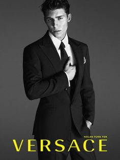 Actor Nolan Funk is the face of Versace's menswear advertising campaign for Spring Summer 2014. Photographed by Mert Alas & Marcus Piggott, the campaign features Nolan as the embodiment of the Versace Man: provocative, rebellious, sharp and loud. #Versace #NolanFunkForVersace #NolanFunk Photography: #MertandMarcus #MertAlas Art Direction: #GiovanniBianco Styling: #DavidBradshaw Hair: #Garren Make-Up: #LuciaPieroni