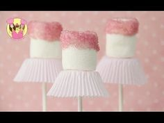 BALLERINA POPS - Ballet dancer party marshmallow pops - Easy and cute tutu treats - YouTube