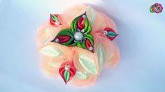 Объемный бант Цветок. Канзаши МК/ Volumetric bow Flower.DIY Kanzashi