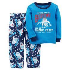 Carter's Boys' 2 Piece Racing to Bedtime Yeti Fleece Pajamas 12 Months Carters Baby Boy Clothes, Baby Boy Pajamas, Toddler Pajamas, Toddler Boys, Baby Outfits, Toddler Outfits, Kids Clothes Sale, Kid Clothing, Cotton Pjs
