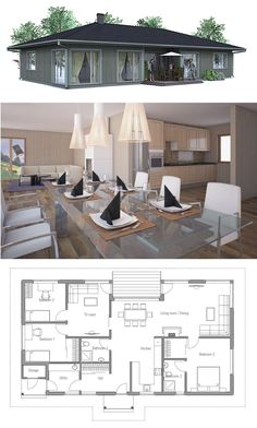 Small Home Plans, Small House Plans, Floor Plans, Architecture, New Home One Level House Plans, Modern House Plans, Small House Plans, House Floor Plans, Bungalow House Design, Small House Design, Affordable House Plans, Weekend House, House Layouts
