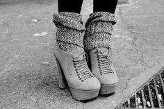 Digging these gray booties. Cute socks too!!